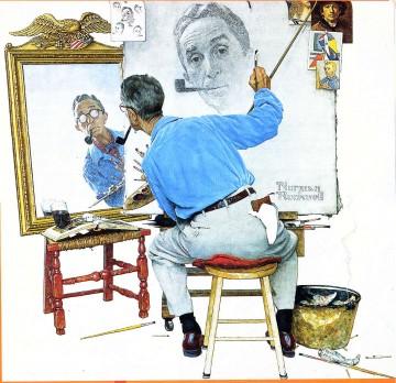 1 re es le triple autoportrait un prof de l 39 tre for Autoportrait miroir